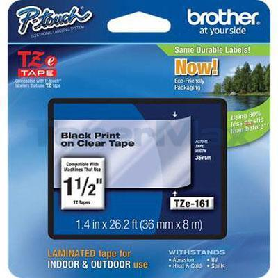 BROTHER TZ LAMINATED TAPE BLACK ON CLEAR 36 MM X 8 M
